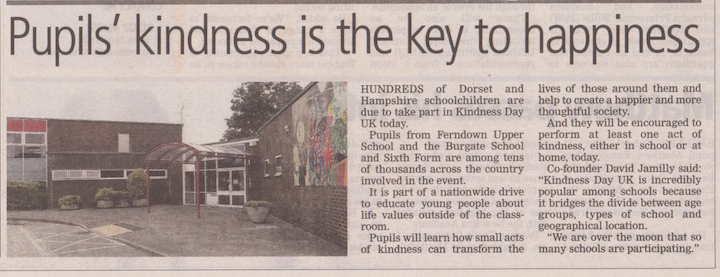 Bournemouth Daily Echo – Pupils' kindness is the key to happiness