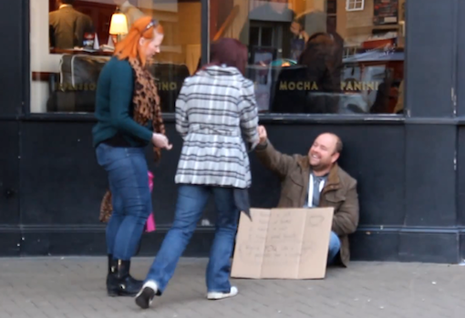 Kind Man buys strangers coffee