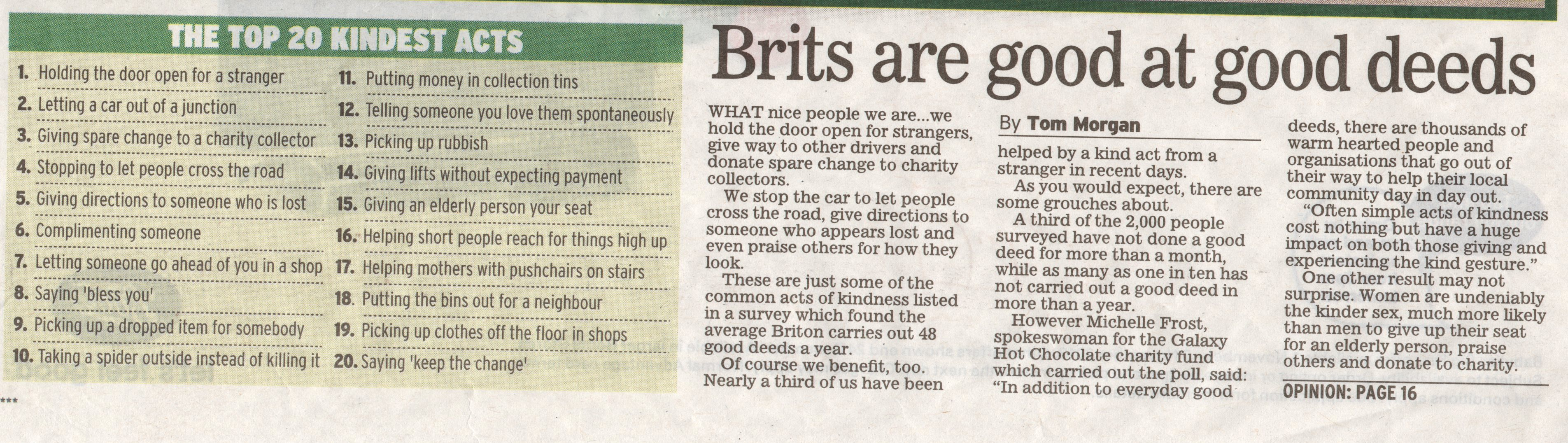 Brits are good at good deeds