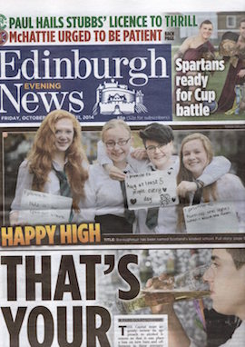 Edinburgh Evening News - Front
