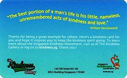 Singapore Kindness Movement Back