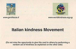 Italian Kindness Movement Front