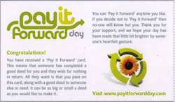 Pay It Forward Day Front