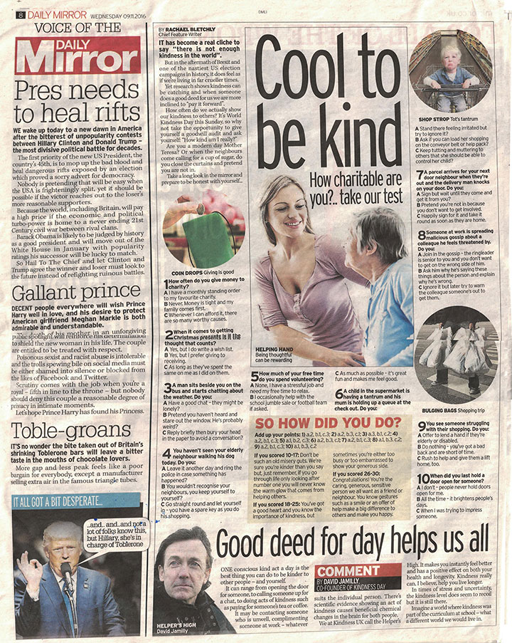 David Jamilly - The Mirror Article